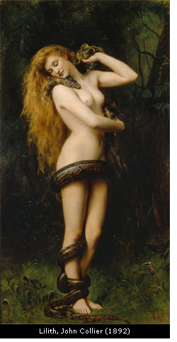 Lilith, painting by John Collier (1892)