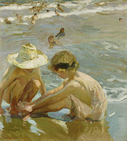 """""""The Wounded Foot"""" 1909, by Joaquin Sorolla y Bastida (1863-1923)"""
